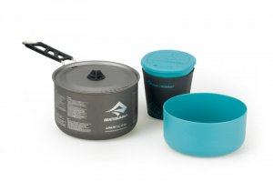 Sea to Summit kookset Alpha Camping 1.1 zwart/blauw 3-delig