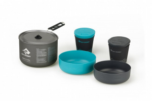 Sea to Summit kookset Alpha Camping 2.1 zwart/blauw 5-delig