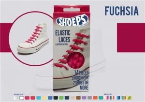 Shoeps Elastische veters fuchsia