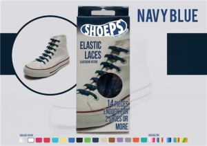 Shoeps Elastische veters navy blue