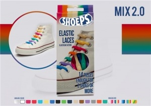 Shoeps Elastische veters pastel mix 2.0