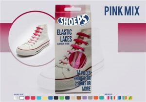 Shoeps Elastische veters pink mix