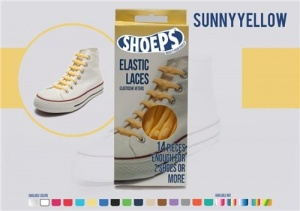 Shoeps Elastische veters sunny yellow