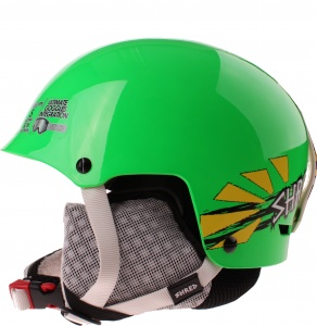 Shred skihelm Half Brain unisex groen