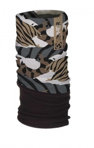 Sinner fleece bandana animal print brown/green one size