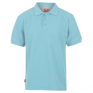 Slazenger Tight Fit Polo Pique Heren 220GR Blauw