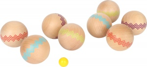 Small Foot Jeu de boules set wood 6 cm 9-piece