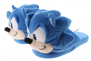 Kamparo sloffen The Hedgehog textiel blauw