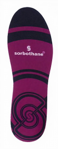 Sorbothane inlegzooltjes rubber paars maat 44-45