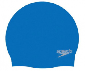Speedo swimming cap shaped silicone blue one-size