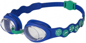 Speedo swimming goggles Spot boys PVC/silicone blue one-size