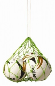 Sportec ball net for 2 to 4 balls light green-S