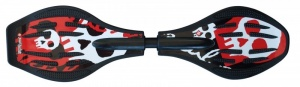 StreetSurfing Waveboard - Skully Black-Red