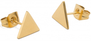 Suck UK earrings triangle ladies 0,7 x 1 cm stainless steel gold