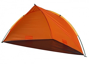 Summertime Beachshelter tente de plage 260 x 110 x 110 x 110 cm orange
