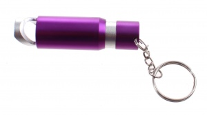 Summit bottle opener with flashlight LED lighting 7 cm purple