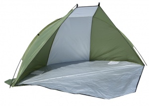 Summit strandtent 2-persoons UV40 groen 248 x 216 x 118 cm