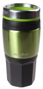 Summit thermosbeker Travelmug 400 ml zwart/groen