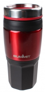 Summit thermosbeker Travelmug 400 ml zwart/blauw