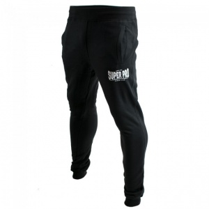 Super Pro joggingbroek zwart/wit heren