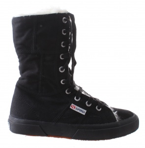Superga veterboots 2040 dames zwart