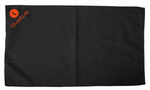 Sveltus sports towel black 80 x 130 cm