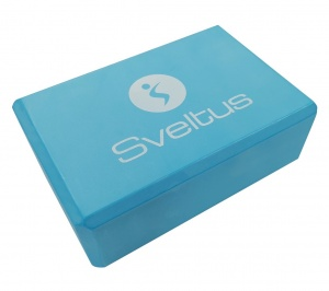 Sveltus yoga block blue 22.5 x 15 x 7.5 cm