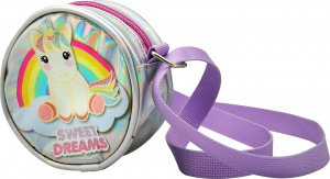 Sweet Dreams shoulder bag 20 cm polyester silver