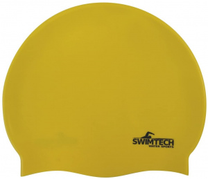 SwimTech swimming cap silicone one size yellow