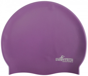SwimTech badmuts siliconen one-size paars
