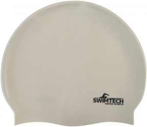SwimTech badmuts siliconen one-size wit