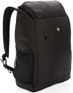 Swiss Peak laptop backpack easy access 15 inch polyester black