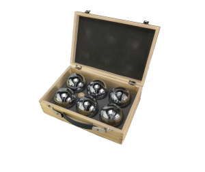 Tactic Pétanque in a wooden box 3-piece