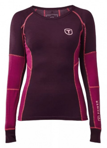 Tenson thermoshirt Wanda ladies merino wool pink/red