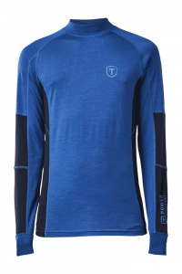 Tenson thermoshirt Woollis men's polyester blue/black