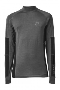 Tenson thermoshirt Woollis men's polyester grey/black