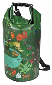 The Zoo zwemtas Tropical waterproof 47 x 18cm PVC/polyester groen