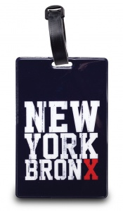 Worldpack bagagelabel New York Bronx 11 cm zwart/wit