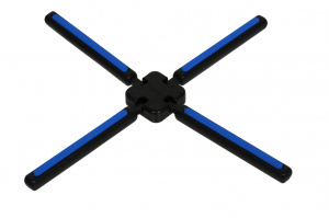 TOM coaster 22 cm polypropylene/ silicone black/blue