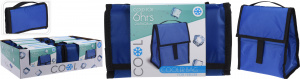 TOM foldable cooler bag 24.5 x 16 x 24 cm blue
