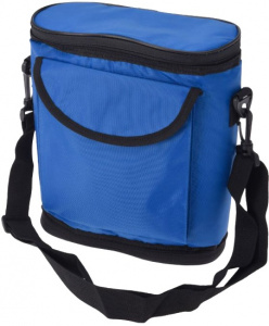 TOM foldable cooler bag 28 x 25 cm polyester blue