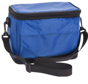TOM foldable cooler bag 35 x 17.5 cm polyester blue