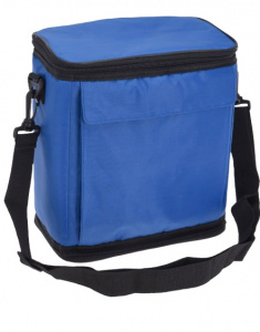 TOM foldable cooler bag 36 x 25 cm polyester blue