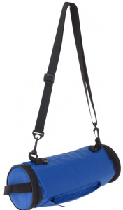 TOM foldable cooler bag for bottle 1.2 litres 30 x 13 cm blue