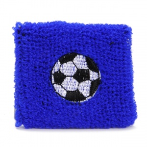 TOM sweatband football 7 cm blue