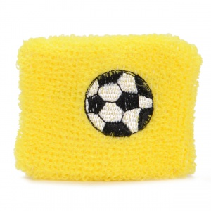 TOM sweatband football 7 cm yellow