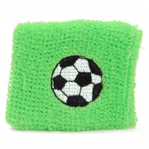TOM sweatband football 7 cm green