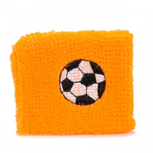TOM sweatband football 7 cm orange