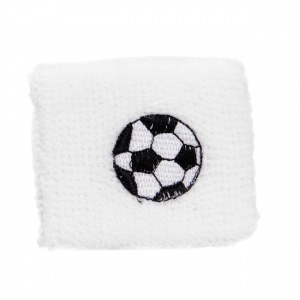 TOM sweatband football 7 cm white