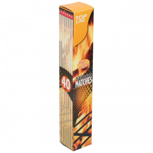Top Line matches 28 cm wood clear 40 pieces